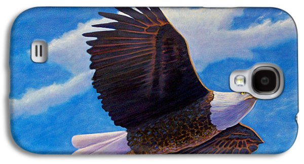 Eagle Paintings Galaxy S4 Cases - Eagle Heart II Galaxy S4 Case by Brian  Commerford
