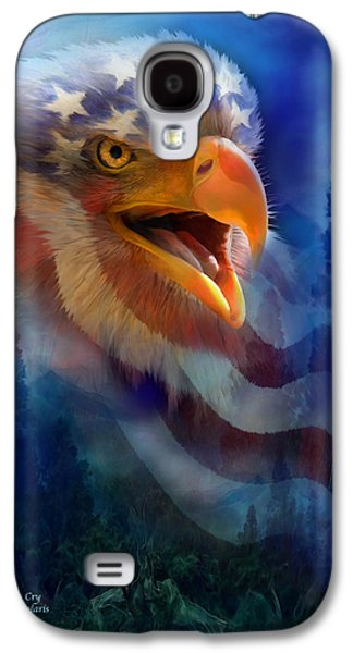 Eagle Mixed Media Galaxy S4 Cases - Eagles Cry Galaxy S4 Case by Carol Cavalaris