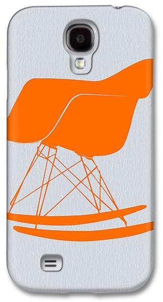 Camera Galaxy S4 Cases - Eames Rocking chair orange Galaxy S4 Case by Naxart Studio