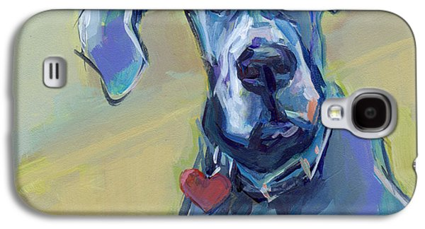 Puppy Paintings Galaxy S4 Cases - Ears Galaxy S4 Case by Kimberly Santini