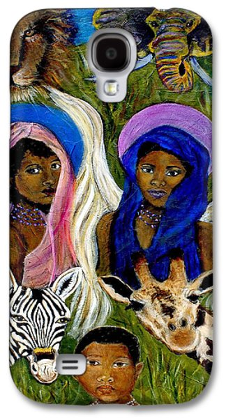 Spiritual Portrait Of Woman Galaxy S4 Cases - Earthangels Abeni and Adesina From Africa Galaxy S4 Case by The Art With A Heart By Charlotte Phillips