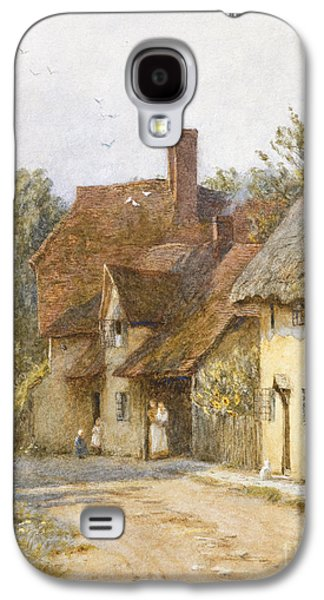 Town Paintings Galaxy S4 Cases - East Hagbourne Berkshire Galaxy S4 Case by Helen Allingham
