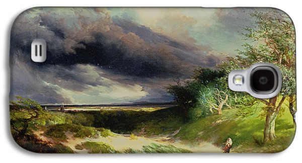 East Hamptonlong Island Sand Dunes Galaxy S4 Case by Thomas Moran