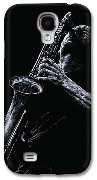 Music Pastels Galaxy S4 Cases - Eclectic Sax Galaxy S4 Case by Richard Young