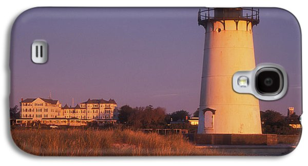 Martha Galaxy S4 Cases - Edgartown Lighthouse and Mansion Galaxy S4 Case by John Burk