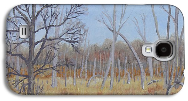 Nature Center Paintings Galaxy S4 Cases - Edge of the Marsh Galaxy S4 Case by Robert P Hedden