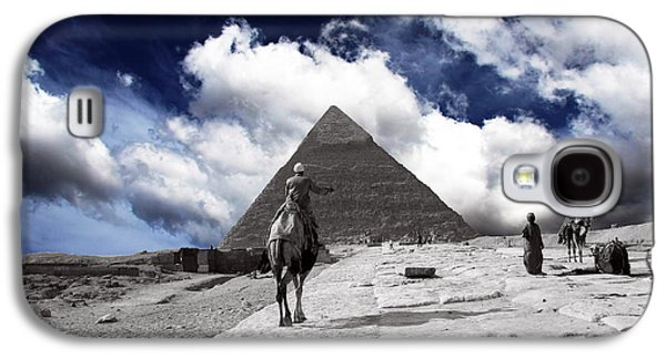 Pyramids Greeting Cards Galaxy S4 Cases - Egypt - Clouds Over Pyramid Galaxy S4 Case by Munir Alawi