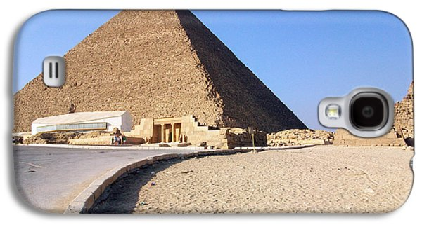 Pyramids Greeting Cards Galaxy S4 Cases - Egypt - Way to Pyramid Galaxy S4 Case by Munir Alawi