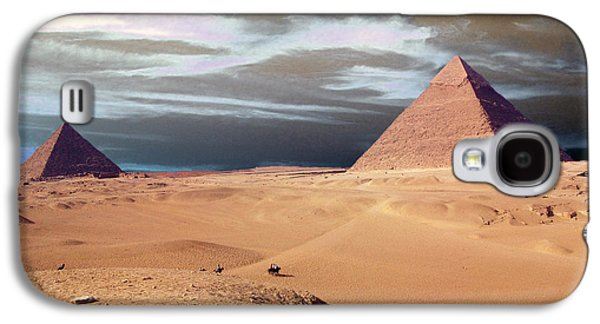 Pyramids Greeting Cards Galaxy S4 Cases - Egypt Eyes Galaxy S4 Case by Munir Alawi