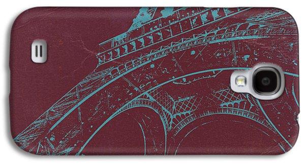European City Digital Art Galaxy S4 Cases - Eiffel Tower Galaxy S4 Case by Naxart Studio