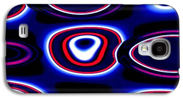 Abstract Digital Art Galaxy S4 Cases - Electric Blue Galaxy S4 Case by Andrew  Hewett