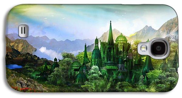 Fantasy World Galaxy S4 Cases - Emerald City Galaxy S4 Case by Karen H