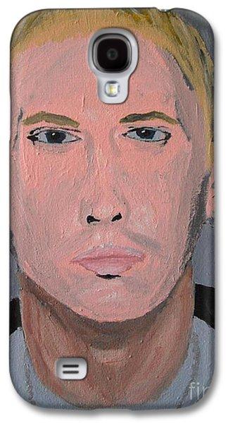 Eminem Paintings Galaxy S4 Cases - Eminem Rap Singer Galaxy S4 Case by Jeannie Atwater Jordan Allen