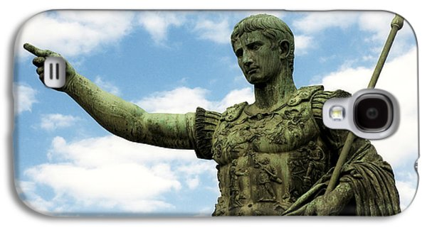 Bronze Galaxy S4 Cases - Emperor Caesar Augustus Galaxy S4 Case by Fabrizio Troiani