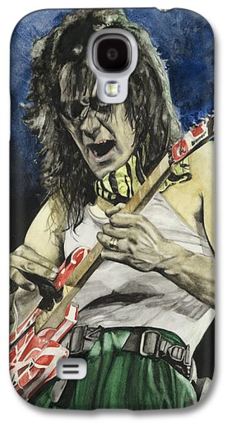 Van Halen Paintings Galaxy S4 Cases - Eruption  Galaxy S4 Case by Lance Gebhardt