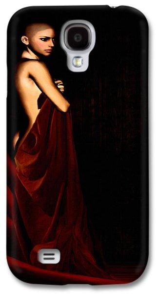 Portraits Digital Art Galaxy S4 Cases - Eternal Optimism Galaxy S4 Case by Lourry Legarde