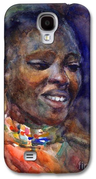 Watercolor Drawings Galaxy S4 Cases - Ethnic woman portrait Galaxy S4 Case by Svetlana Novikova