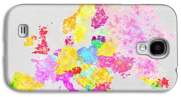 Colorful Abstract Pastels Galaxy S4 Cases - Europe map Galaxy S4 Case by Setsiri Silapasuwanchai