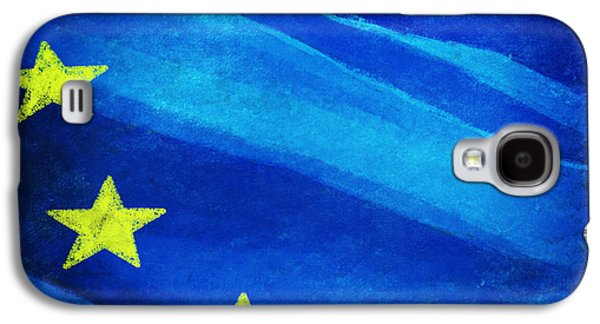 Dirty Digital Art Galaxy S4 Cases - European flag Galaxy S4 Case by Setsiri Silapasuwanchai