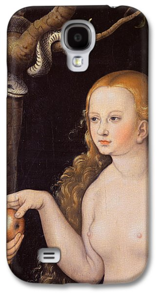Eve Offering The Apple To Adam In The Garden Of Eden And The Serpent Galaxy S4 Case by Cranach