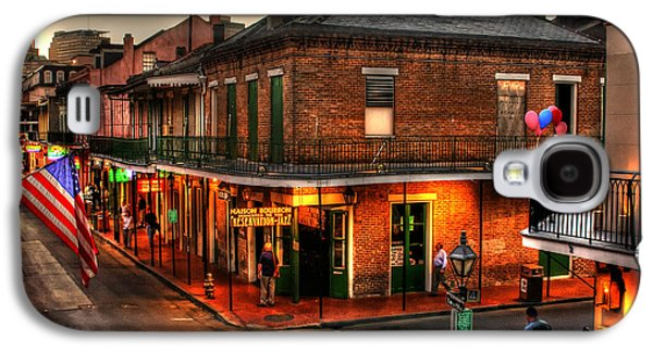 Louisiana Photographs Galaxy S4 Cases - Evening on Bourbon Galaxy S4 Case by Greg and Chrystal Mimbs