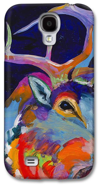 Standing Paintings Galaxy S4 Cases - Evening Sounds Galaxy S4 Case by Tracy Miller