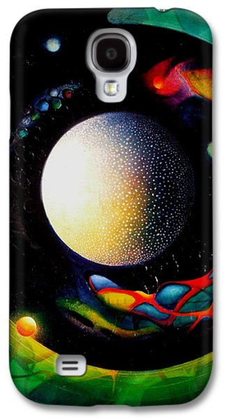 Macrocosm Paintings Galaxy S4 Cases - Exit Galaxy S4 Case by Drazen Pavlovic