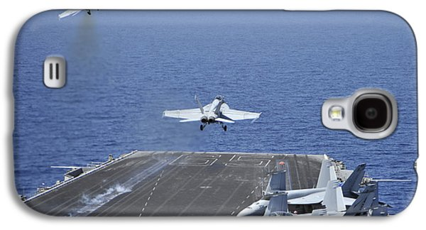 Enterprise Galaxy S4 Cases - Fa-18f Super Hornets Launch Galaxy S4 Case by Stocktrek Images