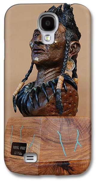 Native Sculptures Galaxy S4 Cases - Fading Spirit Galaxy S4 Case by J P Childress
