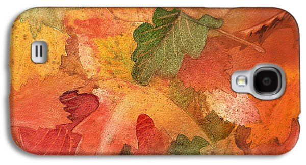 Maple Season Paintings Galaxy S4 Cases - Fall Impressions II Galaxy S4 Case by Irina Sztukowski
