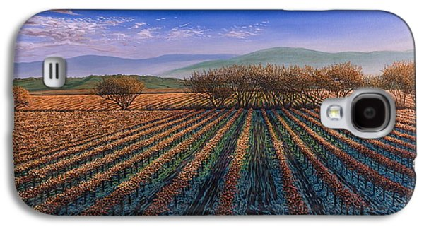 Sonoma County Vineyards. Galaxy S4 Cases - Fall Morning Light Galaxy S4 Case by James English Babcock