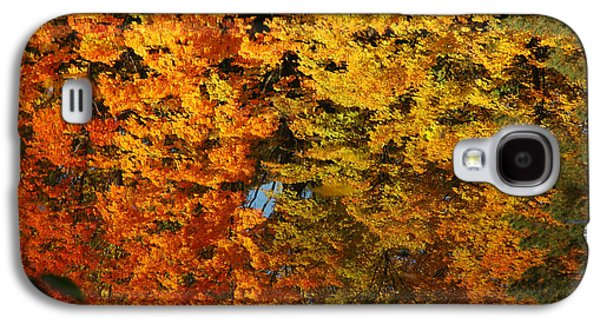 Nature Center Pond Paintings Galaxy S4 Cases - Fall Textures in Water Galaxy S4 Case by LeeAnn McLaneGoetz McLaneGoetzStudioLLCcom