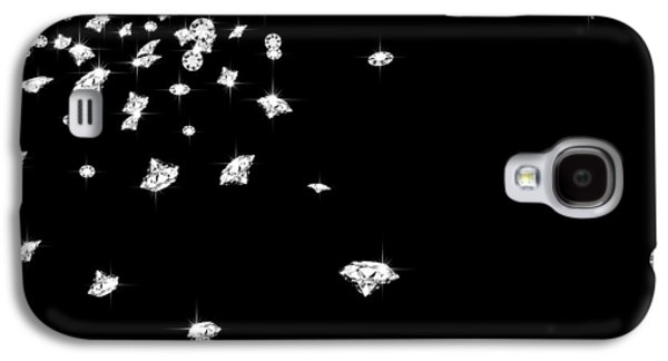 Brightly Galaxy S4 Cases - Falling Diamonds Galaxy S4 Case by Setsiri Silapasuwanchai