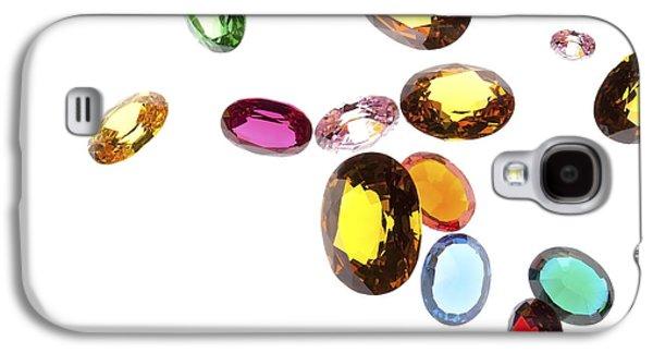 Red Jewelry Galaxy S4 Cases - Falling Gems Galaxy S4 Case by Setsiri Silapasuwanchai
