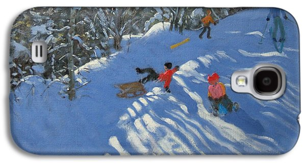 Falling Off The Sledge Galaxy S4 Case by Andrew Macara