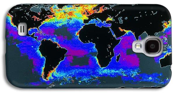 Phytoplankton Photographs Galaxy S4 Cases - False-col Satellite Image Of Worlds Oceans Galaxy S4 Case by Dr Gene Feldman, Nasa Gsfc