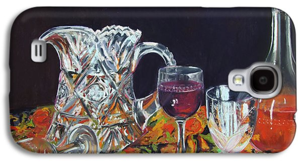 Still Life Pastels Galaxy S4 Cases - Family Ties Galaxy S4 Case by Marie-Claire Dole