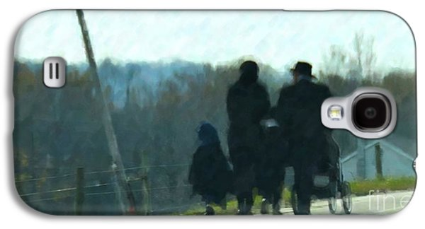Amish Family Photographs Galaxy S4 Cases - Family Time Galaxy S4 Case by Debbi Granruth