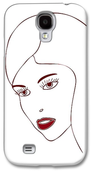 Thought Drawings Galaxy S4 Cases - Fashion Model Galaxy S4 Case by Frank Tschakert