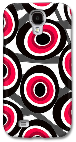 Abstract Digital Paintings Galaxy S4 Cases - Fashion Spots  Galaxy S4 Case by Louisa Knight