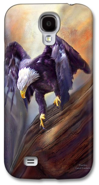 Eagle Mixed Media Galaxy S4 Cases - Fearless Galaxy S4 Case by Carol Cavalaris