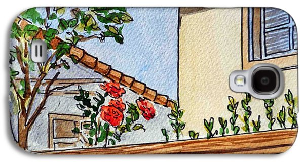 Fence And Roses Sketchbook Project Down My Street Galaxy S4 Case by Irina Sztukowski