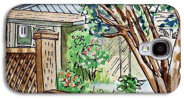 Fence Sketchbook Project Down My Street Galaxy S4 Case by Irina Sztukowski