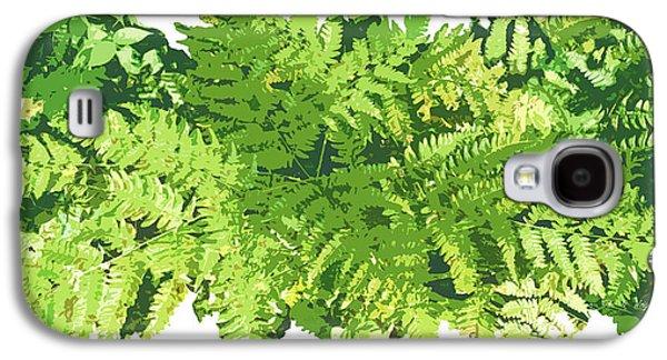 Green Foliage Galaxy S4 Cases - Fern Vignette Galaxy S4 Case by JQ Licensing