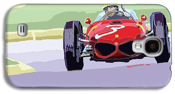 Automotive Digital Art Galaxy S4 Cases - Ferrari 156 Dino 1962 Dutch GP Galaxy S4 Case by Yuriy  Shevchuk