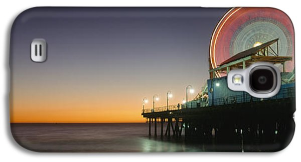 Rollercoaster Photographs Galaxy S4 Cases - Ferris Wheel And Rollercoaster At Dusk Galaxy S4 Case by Axiom Photographic