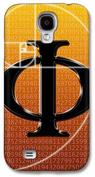 Fibonacci Galaxy S4 Cases - Fibonacci Spiral And Phi, Artwork Galaxy S4 Case by Seymour