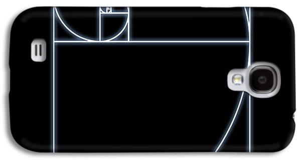 Fibonacci Galaxy S4 Cases - Fibonacci Spiral, Artwork Galaxy S4 Case by Seymour