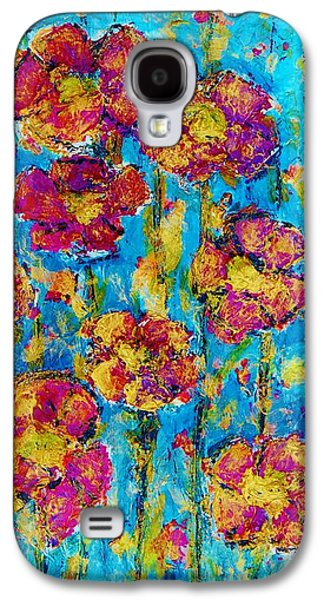 Gold Lime Green Galaxy S4 Cases - Field of Dreams Galaxy S4 Case by Laura  Grisham