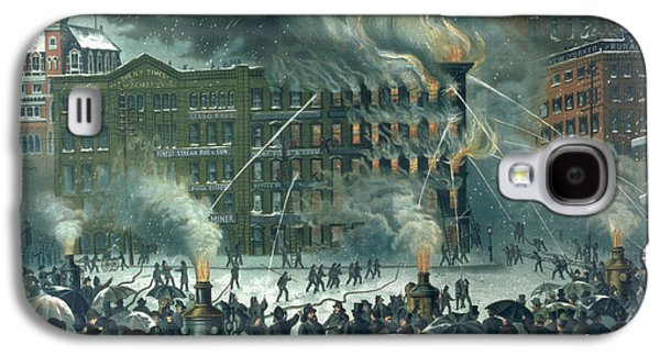 Fire In The New York World Building Galaxy S4 Case by American School
